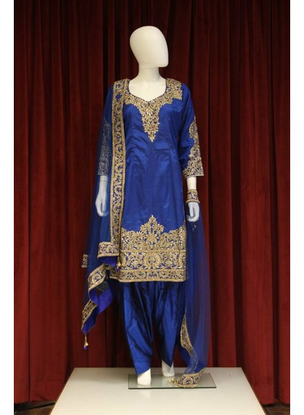 Party Wear Navy Blue Salwar Kameez