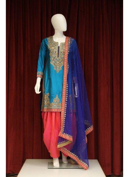 Party Wear Blue Salwar Kameez