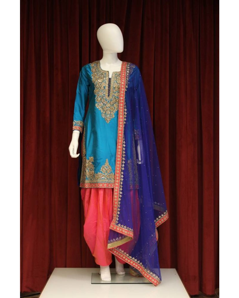Party Wear Blue Salwar Kameez