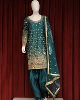 Party Wear Green Salwar Kameez