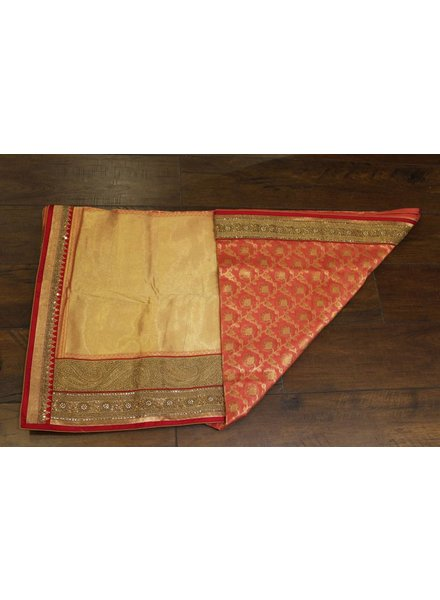 Bridal Pink and Gold Saree