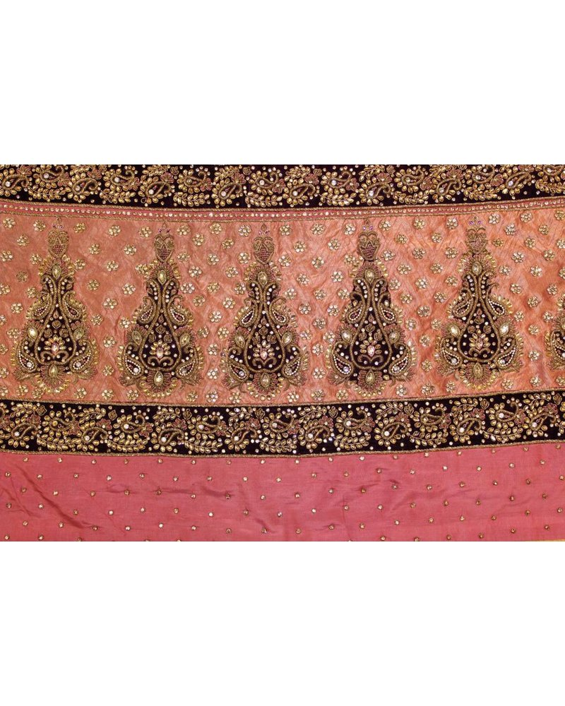 Bridal Pink and Purple Saree