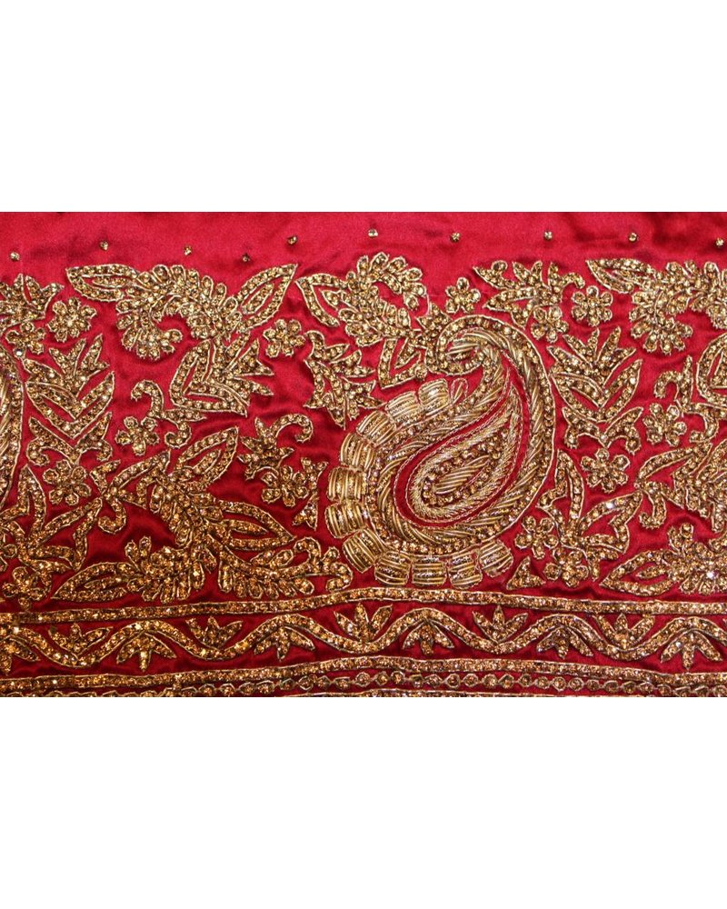 Bridal Maroon Red Saree