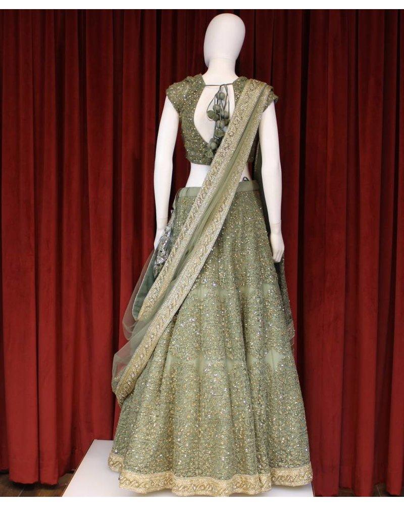 Bridal Moss Green Lehenga