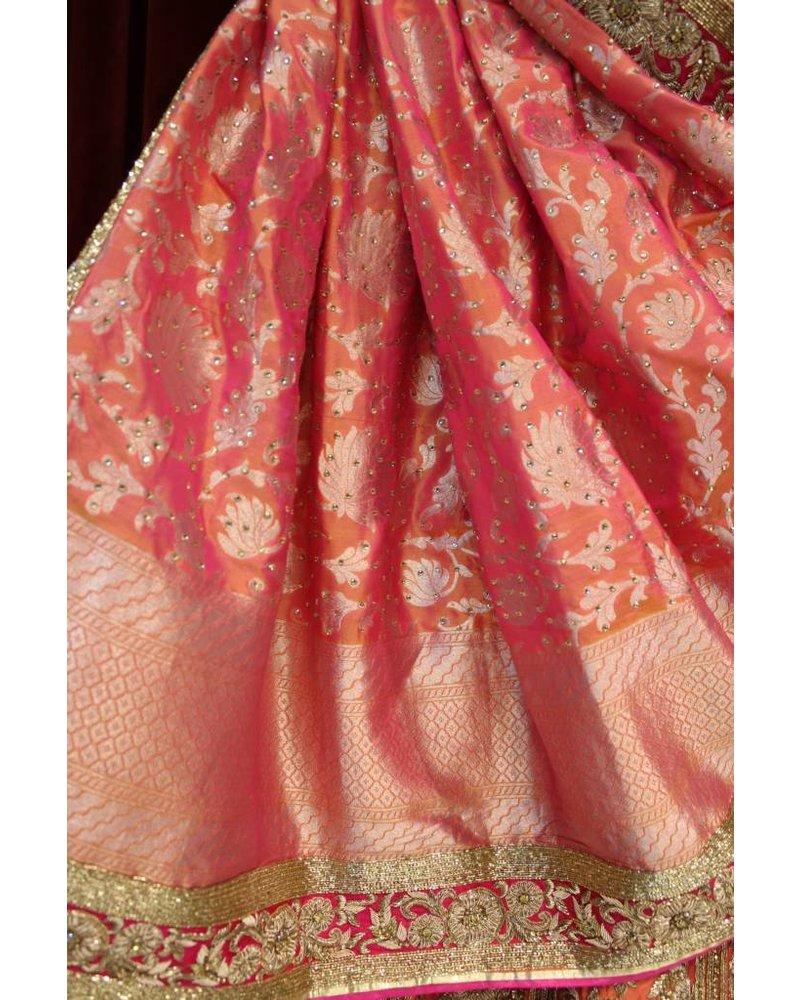 Bridal Pinkish Orange Lehenga