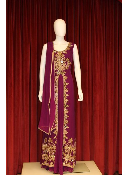 Party Wear Purple Anarkali