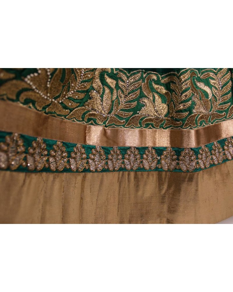 Party Wear Green Lehenga