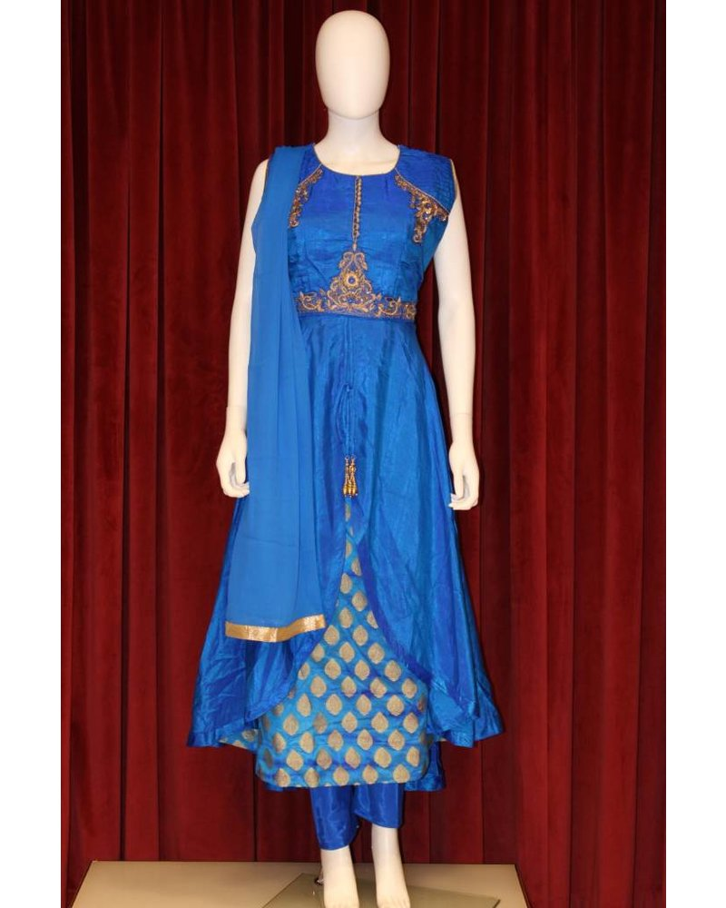 Party Wear Blue Anarkali