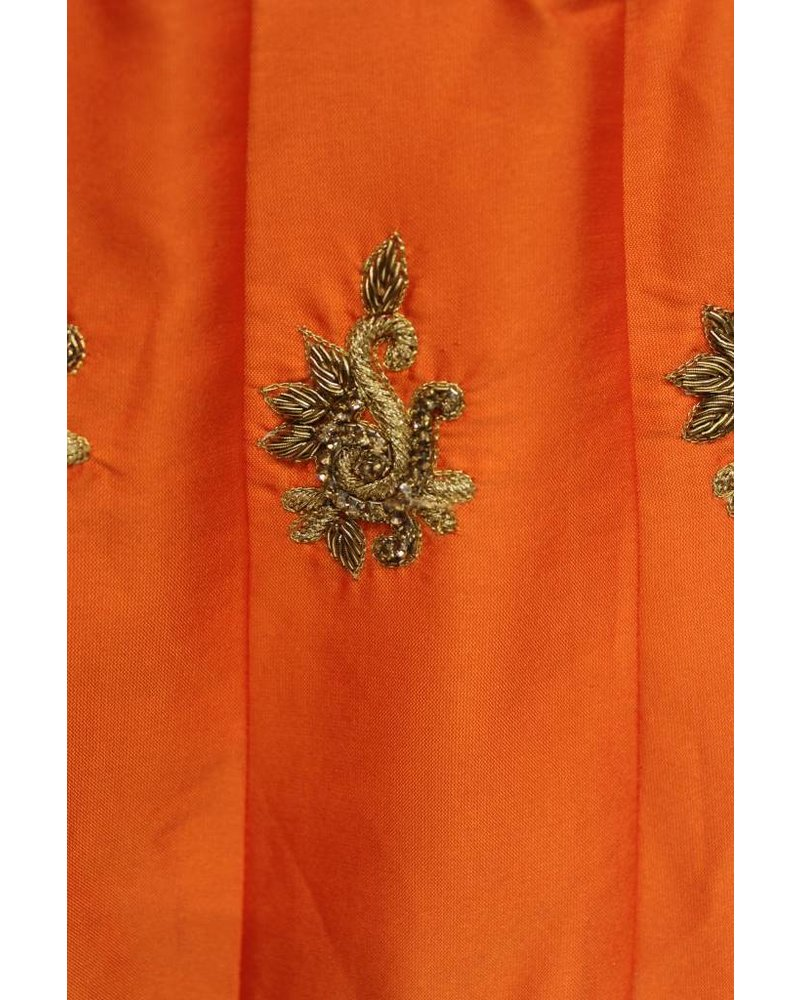 Party Wear Pink and Orange Lehenga