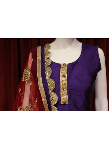Party Wear Purple Patiala Salwar