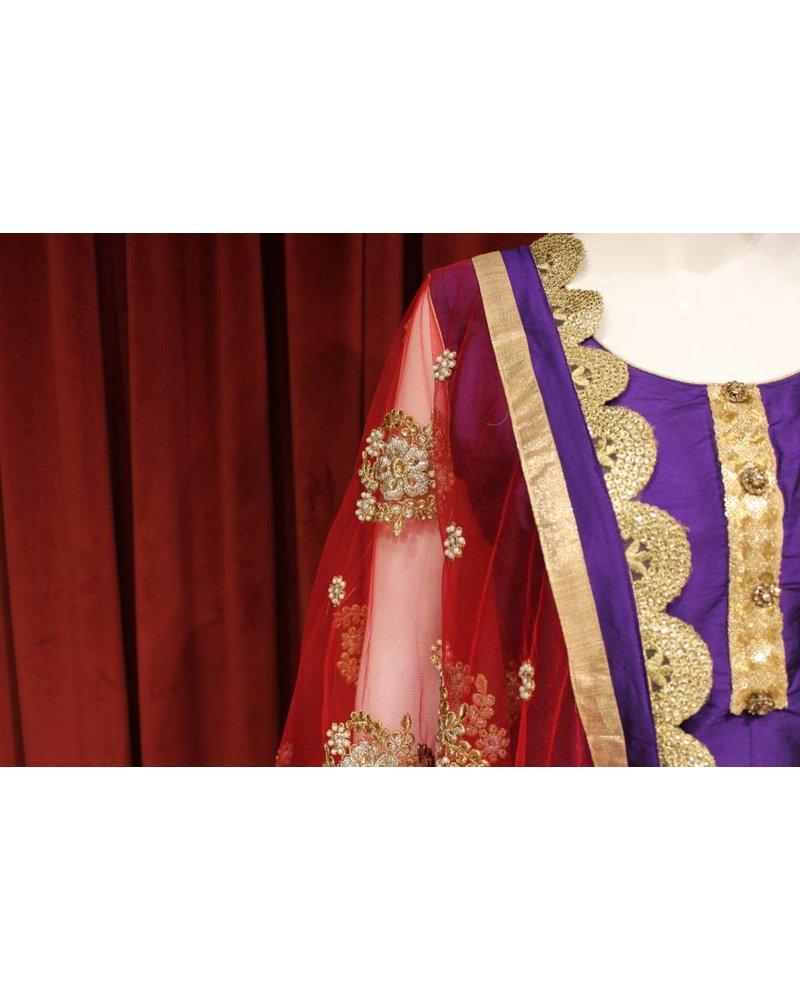 Party Wear Purple Patiala Salwar
