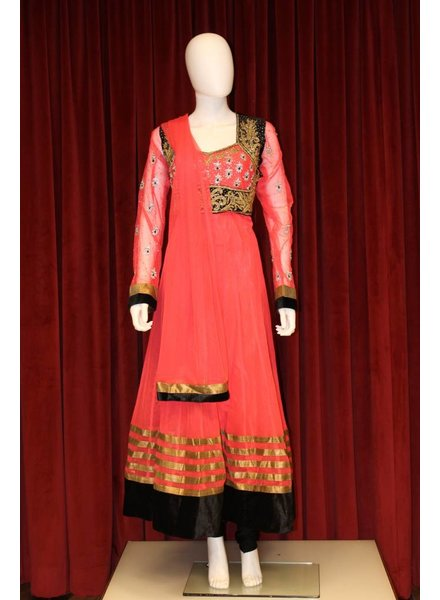 Party Wear Pink Anarkali