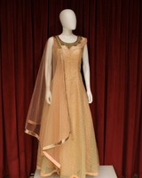 Party Wear Peach Gown