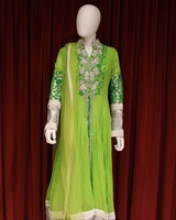 Party Wear Green Gown