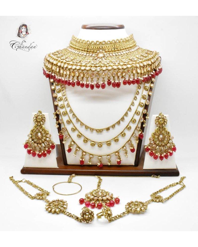 Gold Bridal Set w/ bead work