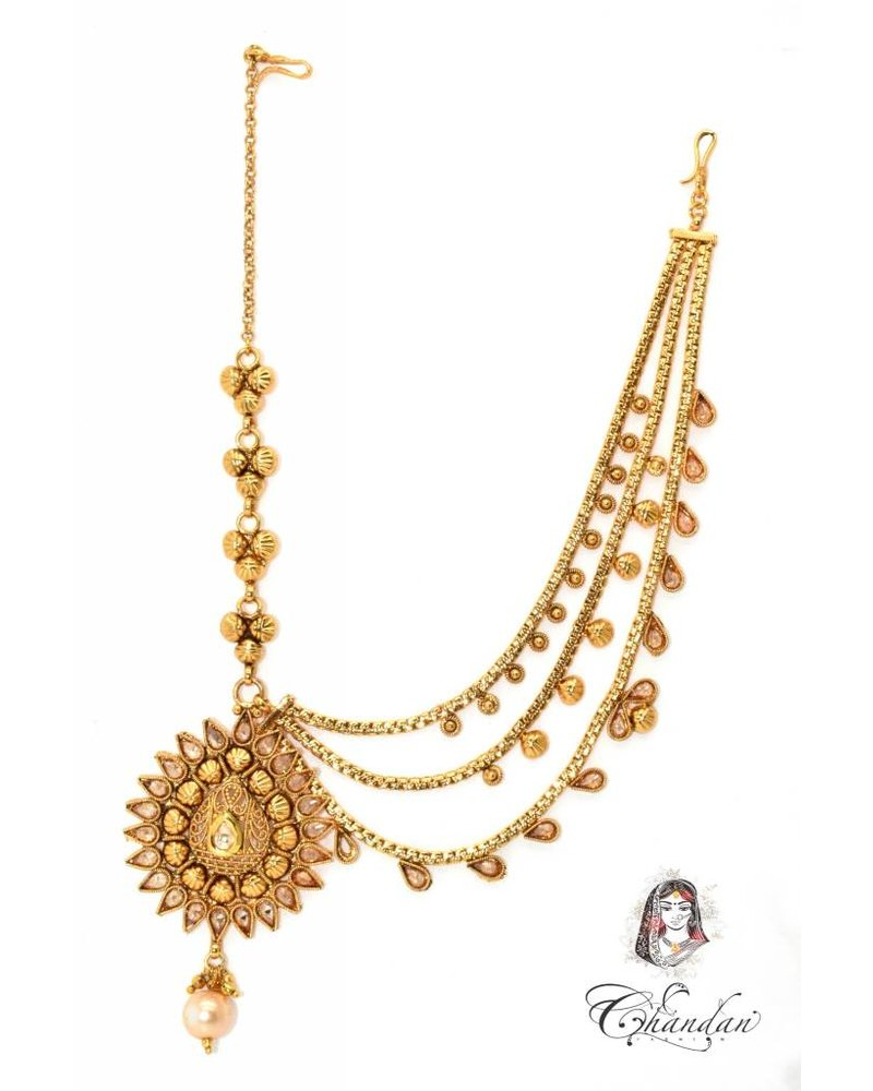 Gold Tikka w/ one side chains