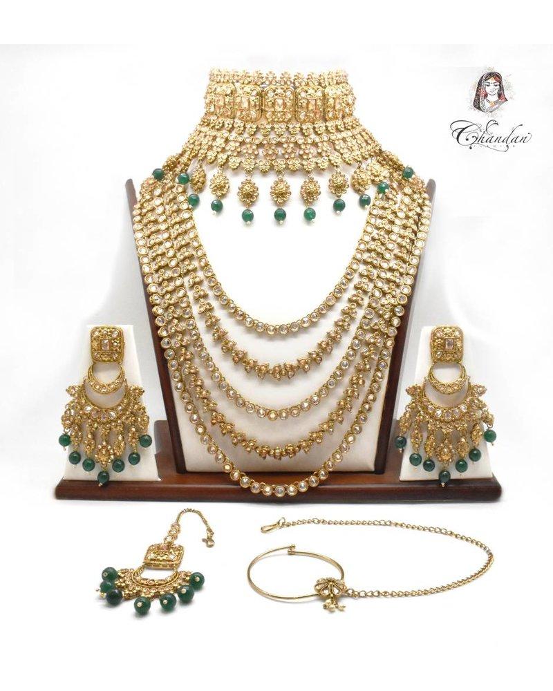 Gold Bridal Set w/ stones & beads