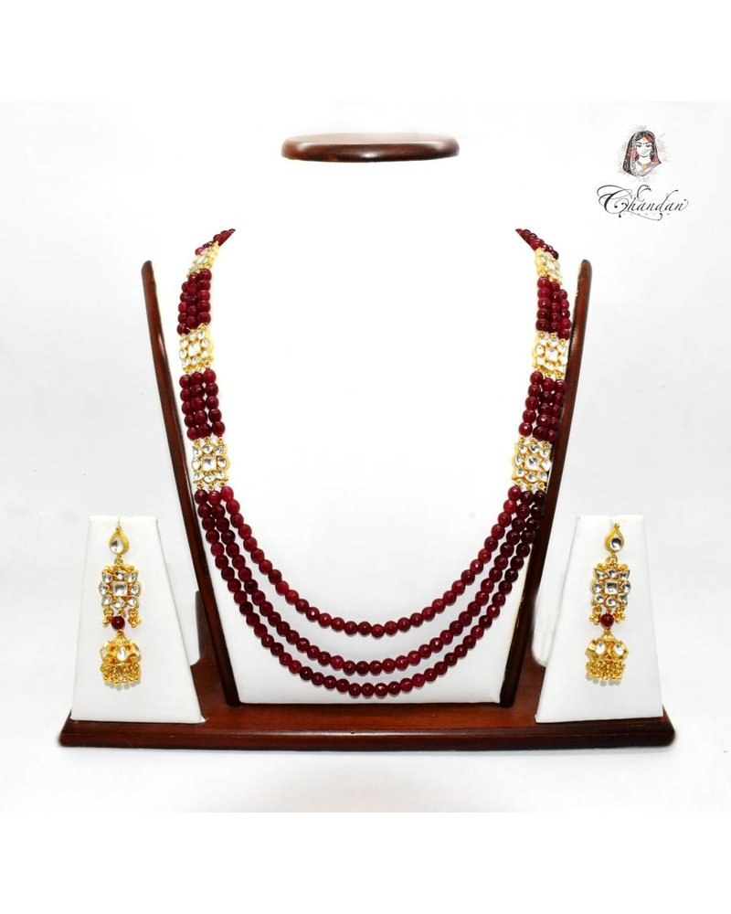 Maroon Pearl Necklace