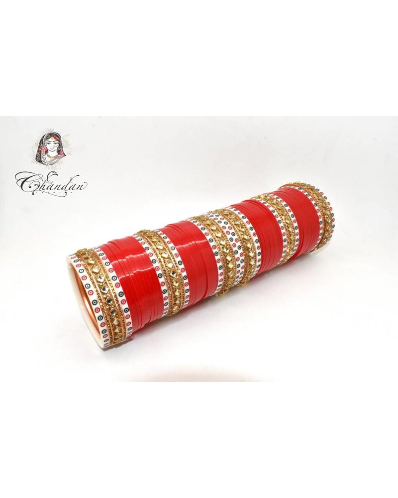 Red Chura w/ stone and prints