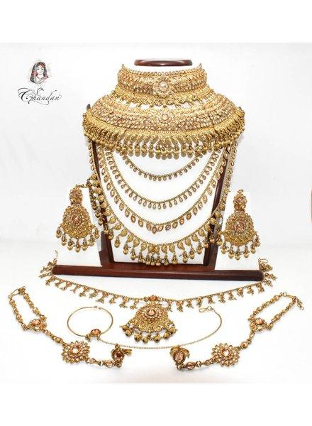 Gold Bridal Set w/ stone work