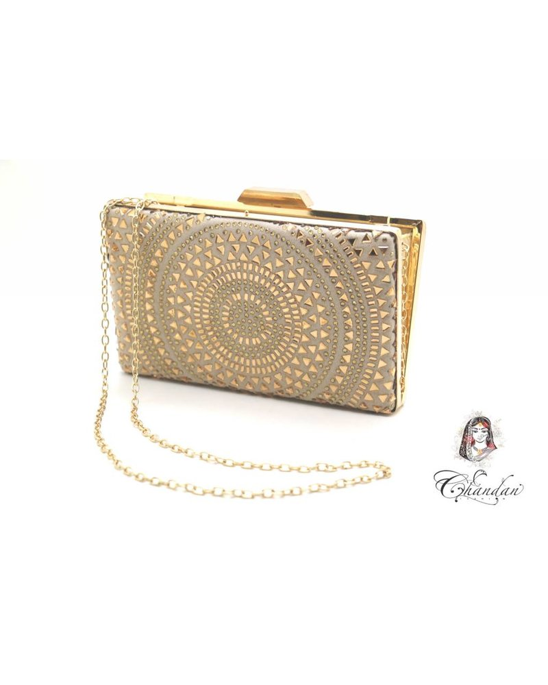 Gold Purse With Stone Work