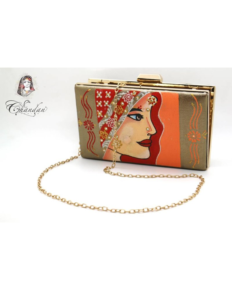 Gold Purse with Print
