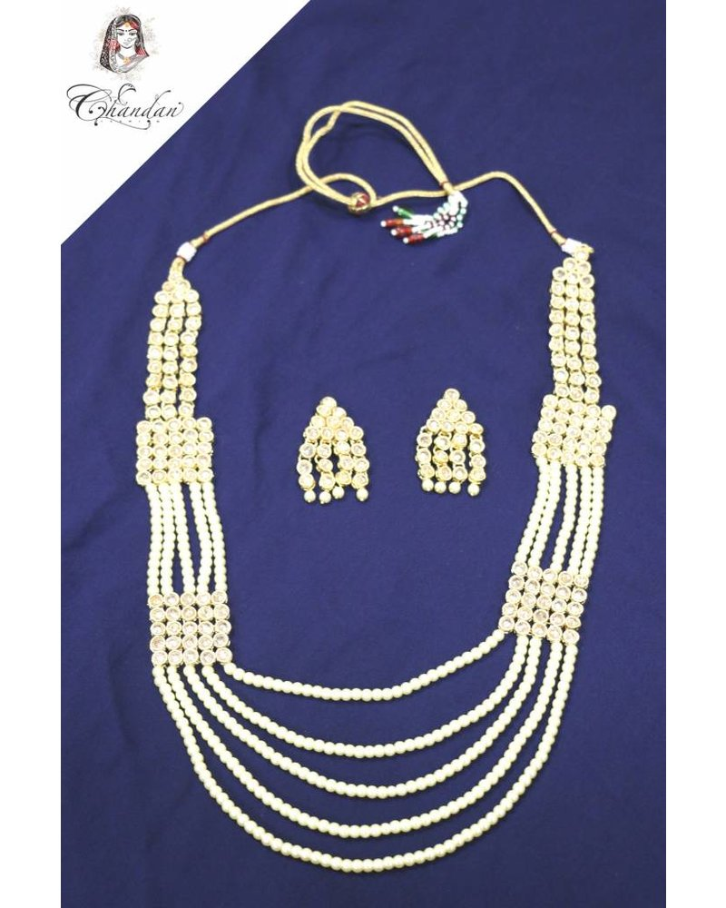 Pearl Necklace Set With Earings