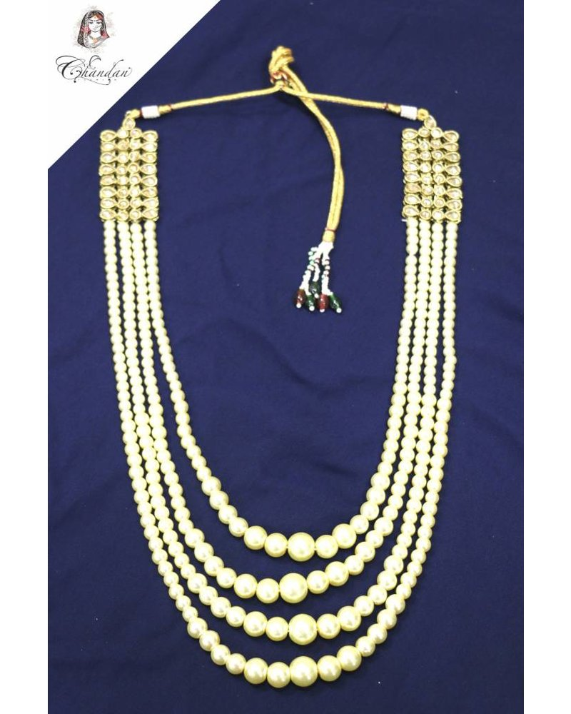 4 Layered Pearl Necklace