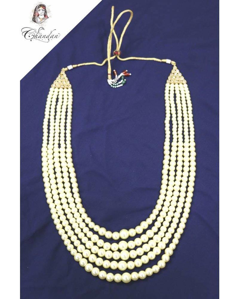 5 Layered Pearl Mens Mala