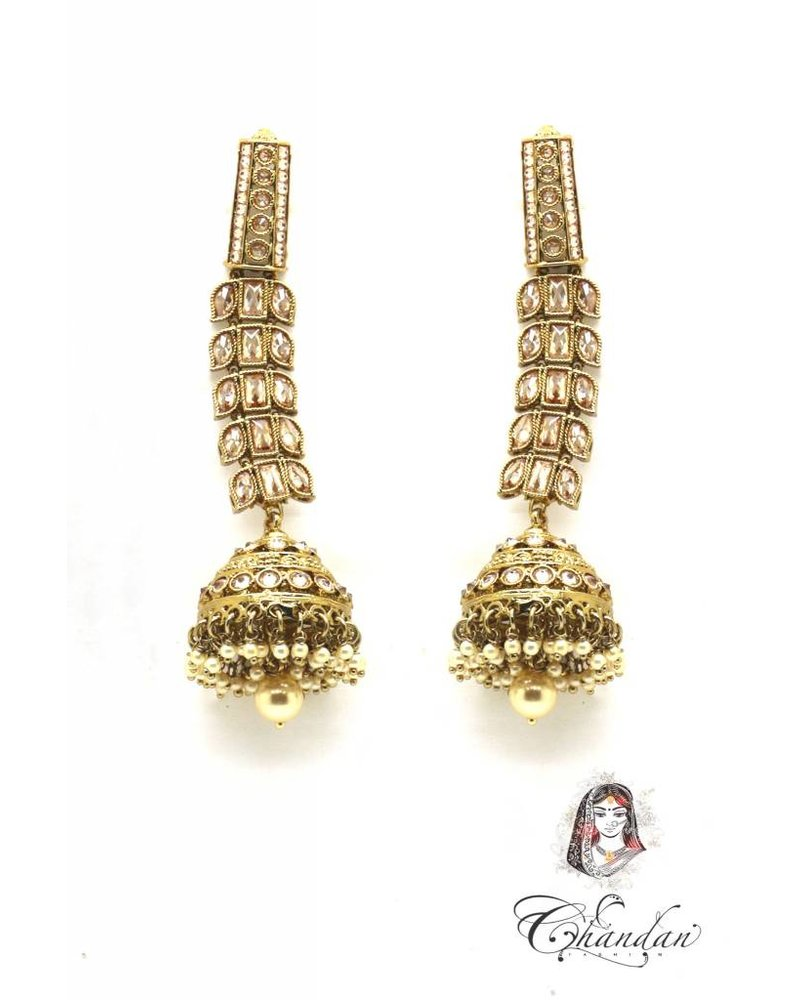 Golden Polki Earings with and stones