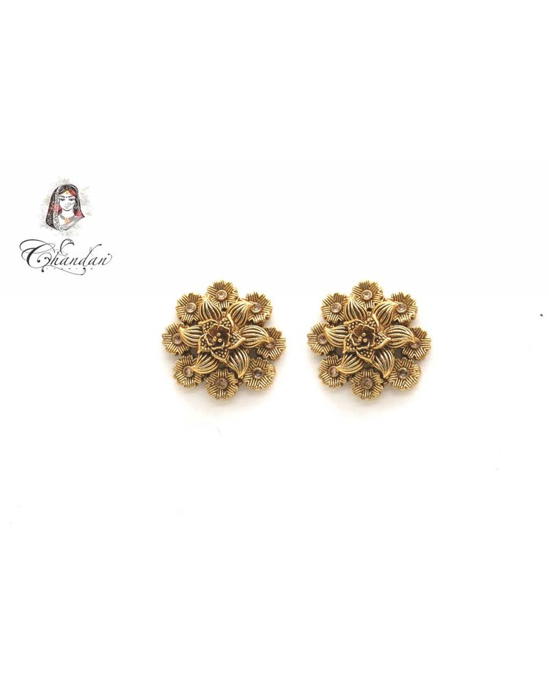 Gold Floral Earings
