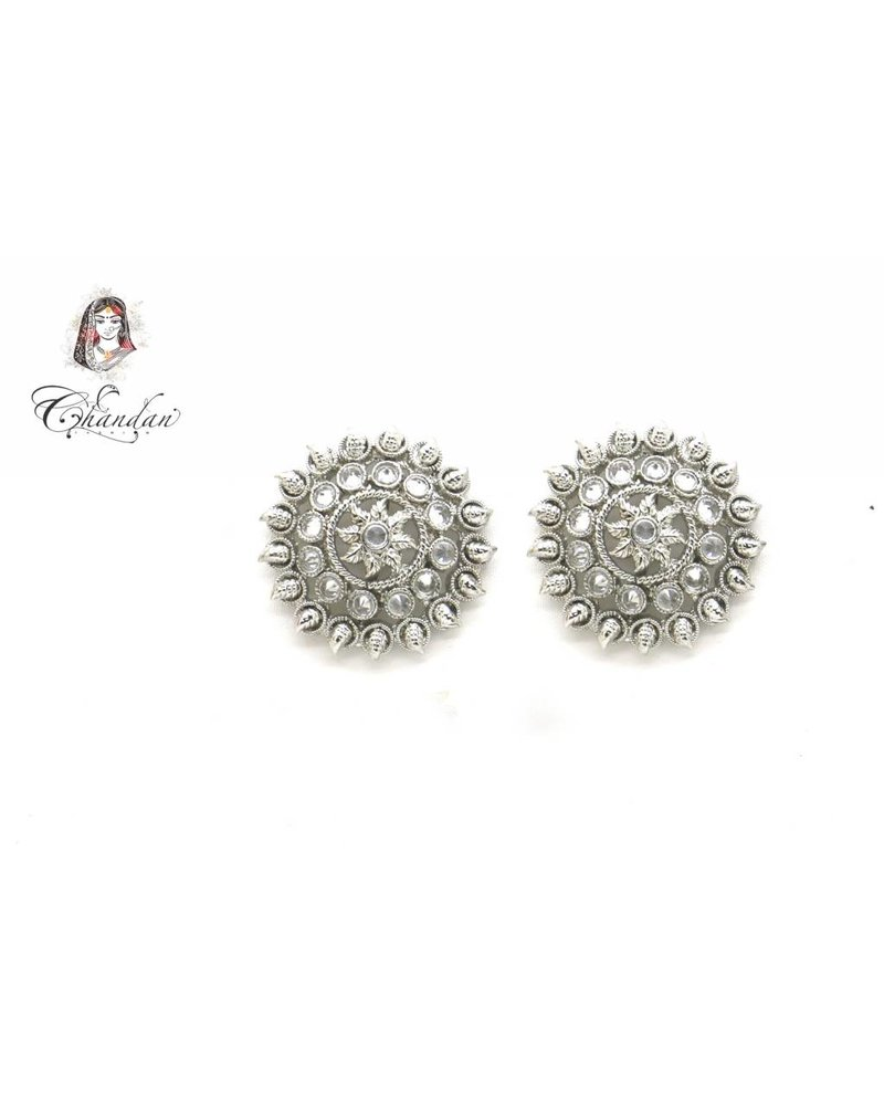 Silver Earings With Stones