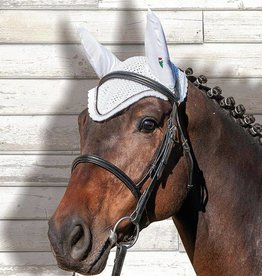 Equiline Equiline Earnet with Rhinestones - White Full