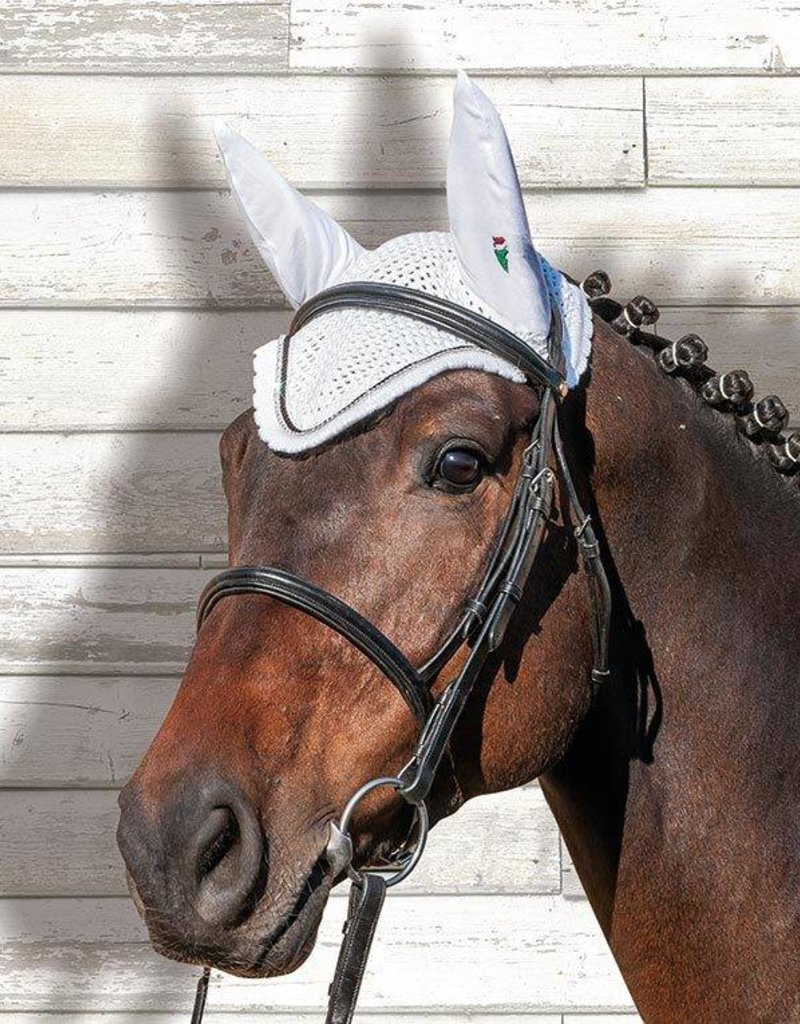 Equiline Equiline Earnet with Rhinestones - White Ful