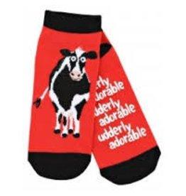 "Hatley Hatley Ladies ""Udderly Adorable"" No-slip Ankle Socks"