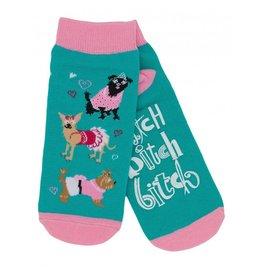 Hatley Hatley Ladies Bitch Bitch Bitch No-Slip Ankle Socks
