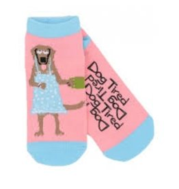 Hatley Hatley Ladies Dog Tired No-slip Ankle Socks