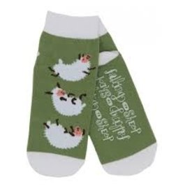 Hatley Hatley Ladies Falling to Sheep No-slip Ankle Socks