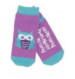 Hatley Hatley Ladies Hoo's Sleepy No-slip Ankle Socks