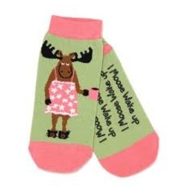 Hatley Hatley Ladies I Moose Wake Up No-slip Ankle Socks