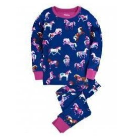 Hatley Hatley Hearts and Horses Print Navy PJ Set