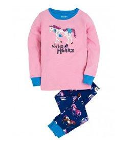 Hatley Hatley Horses and Flowers Applique PJ Set