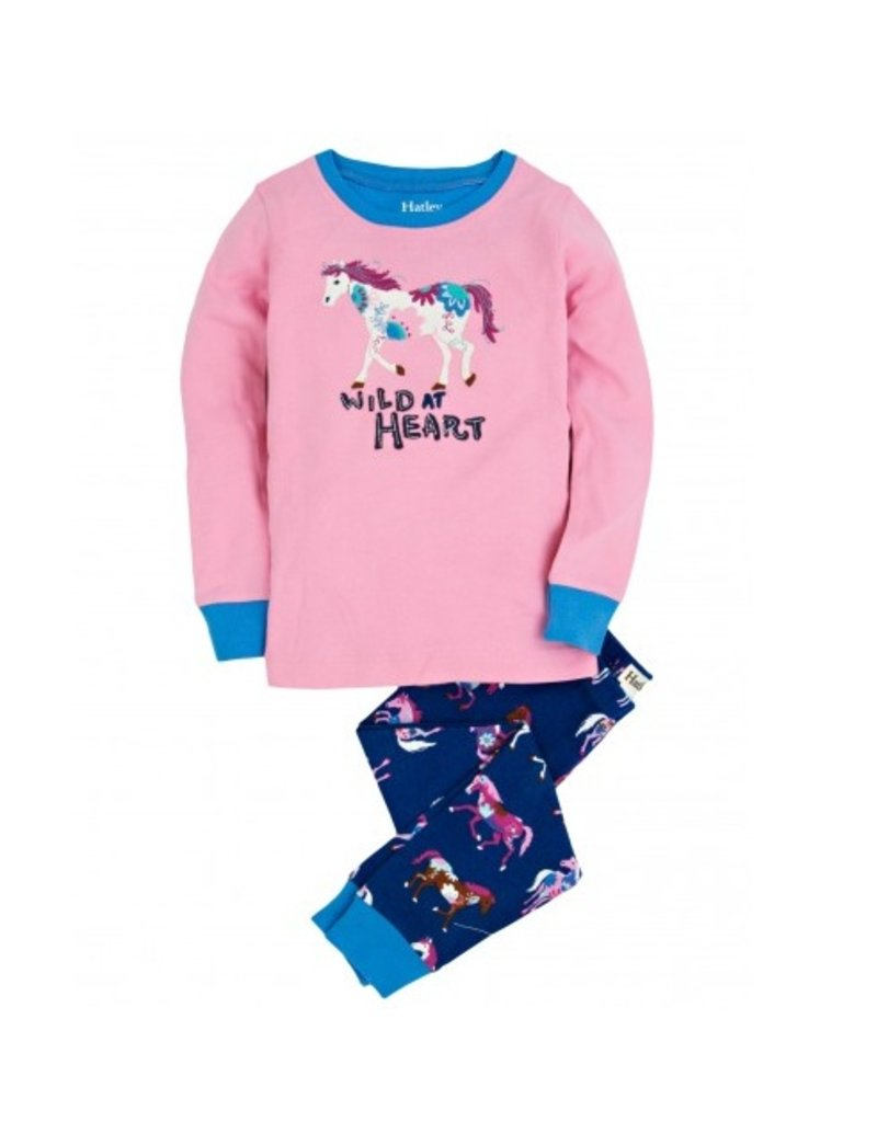 Hatley Hatley Horses and Flowers Applique PJ Set 6