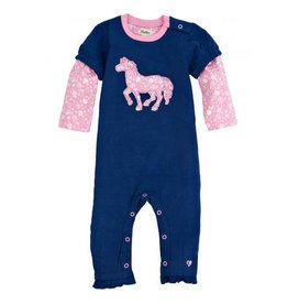 Hatley Hatley Infant Girls Flower Horses Romper