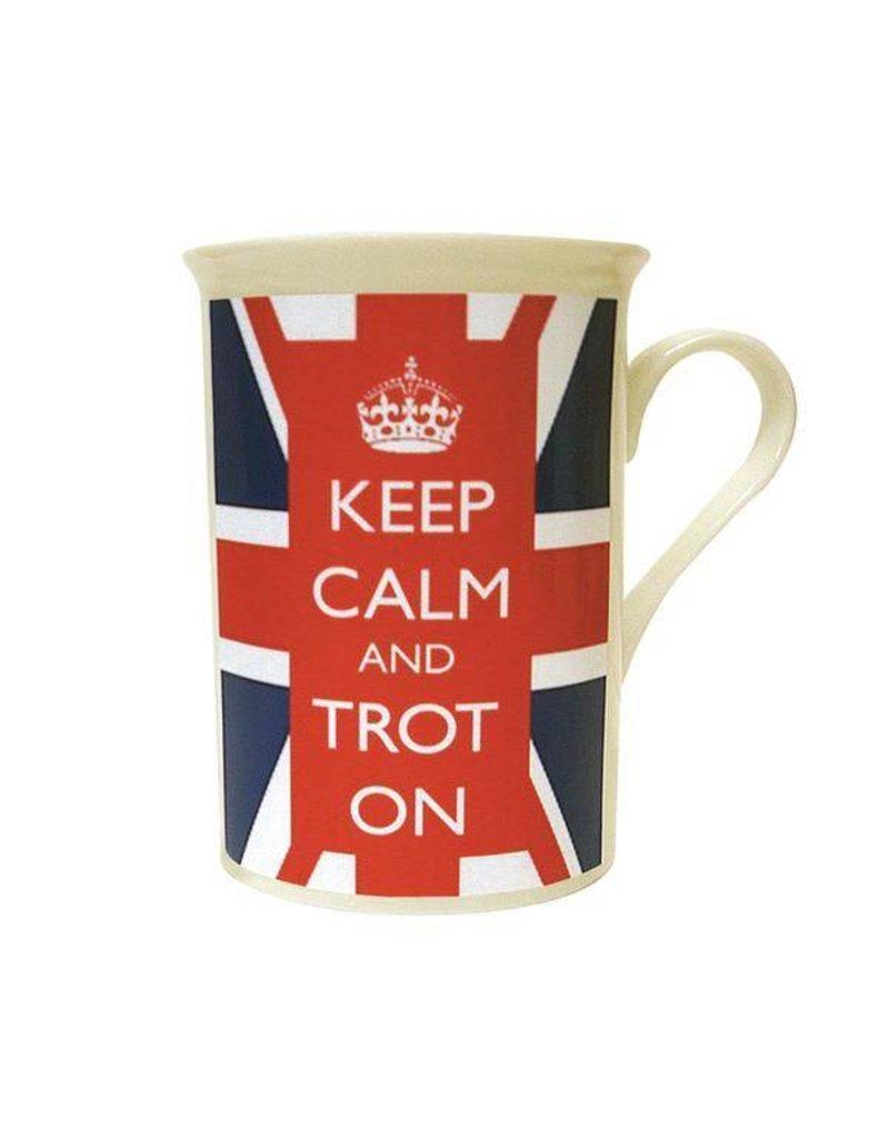 Keep Calm and Trot On Union Jack Mug