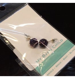My Barn Child My Barn Child Bling Earrings - Aubergine
