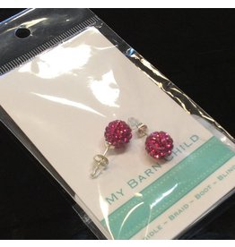 My Barn Child My Barn Child Bling Earrings - Fuschia