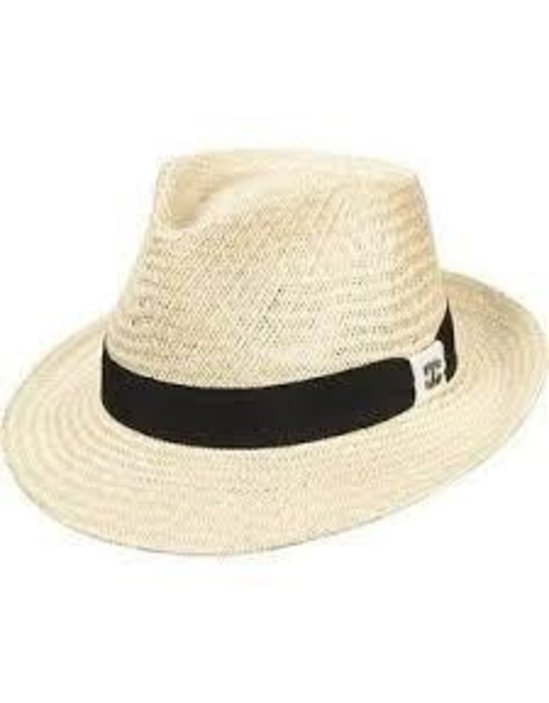 Scala Scala Palm Fiber Fedora With Ribbon Band