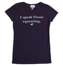"""Stirrups Stirrups Girls """"Fluent Equestrian"""" Tee M (7/8)"""