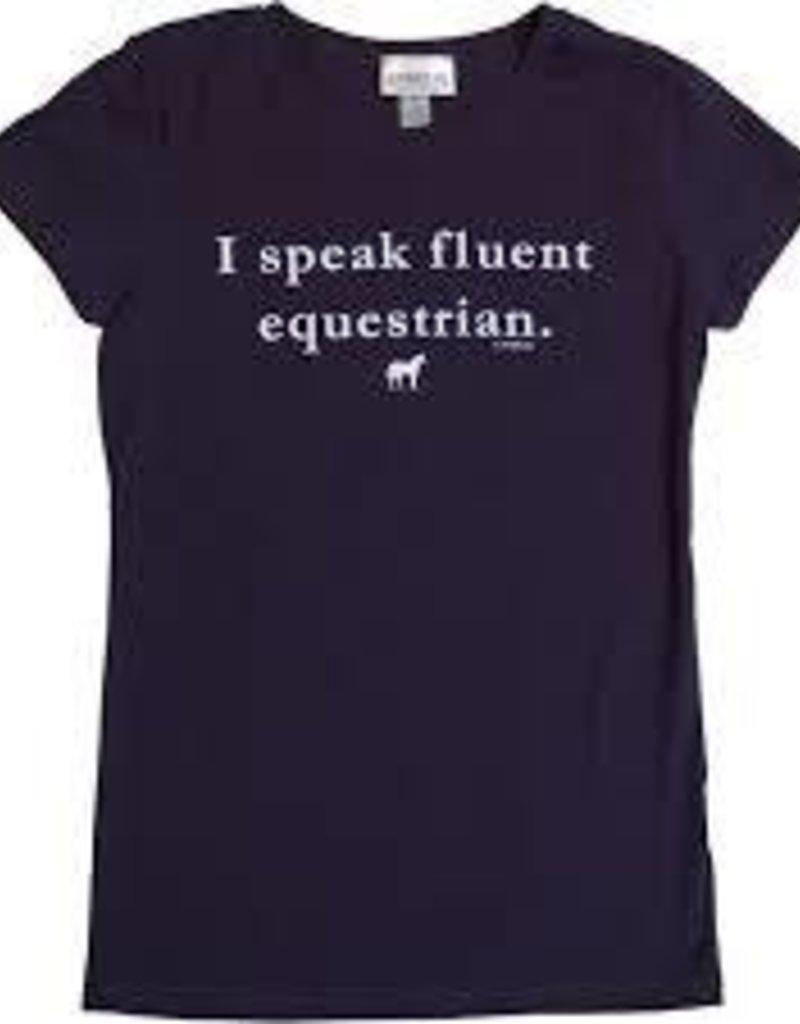 """Stirrups Girls """"Fluent Equestrian"""" Tee M (7/8)"""
